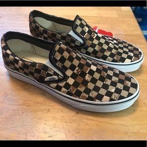Vans Camo Checkered Slip Ons Men's Size 11.5